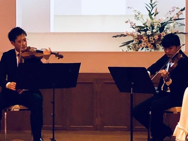 ヴァイオリン  デュオコンサート